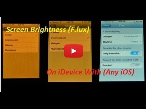 Cydia Tweak:- F.lux For iPhone 5/4s/4/3Gs On Running iOS 6.0/6.0.1/6.1.1/6.1.2/6.1.3
