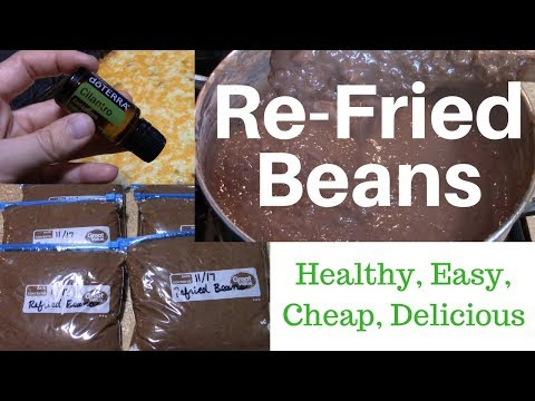 Refried Beans ~with Cilantro Oil