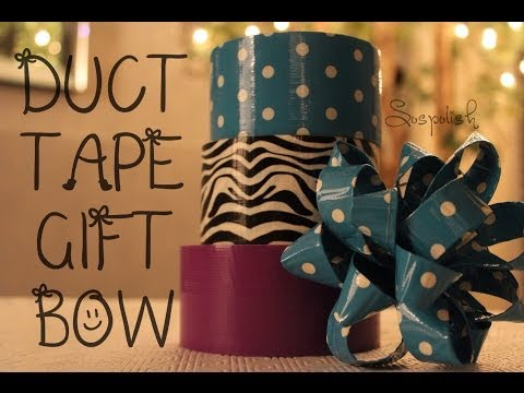 DIY: Holiday Duct Tape Gift Bow