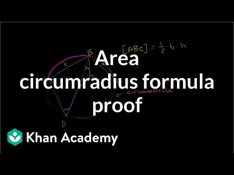 Area circumradius formula proof | AIME | Math for fun and glory | Khan Academy