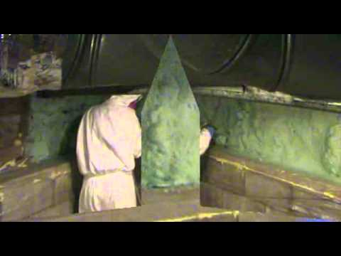 Stacked Stone Foundation Wall Insulation Install