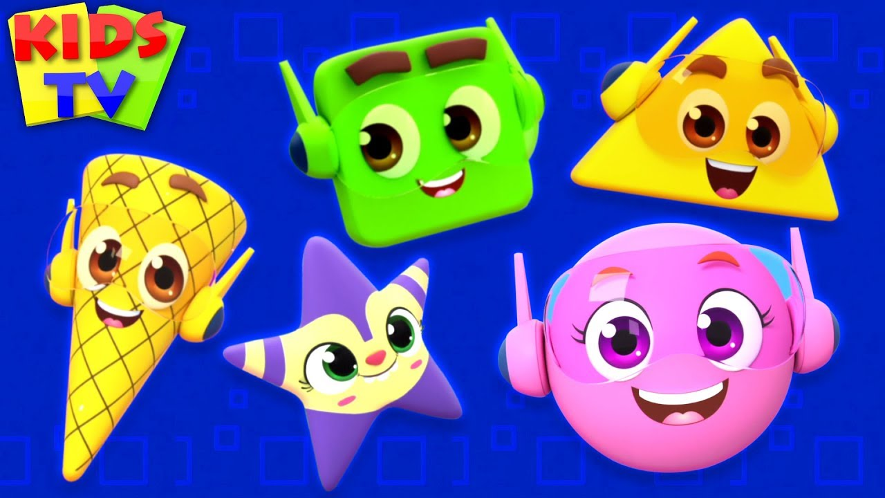 Shapes Song   Super Supremes Cartoon   Learning Videos & Rhymes for Babies   kids tv