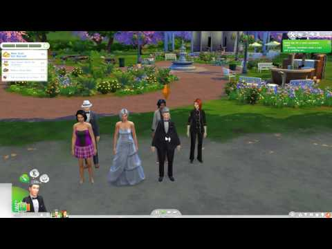sims 4 gameplay the wedding in the park