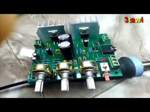 12V 30W DIY TDA2030A Dual Track Power Amplifier Board Kit  from banggood.com