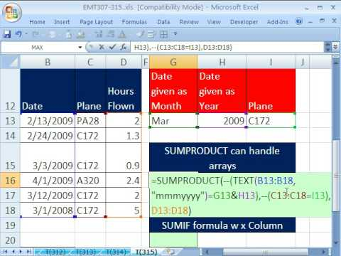 Excel Magic Trick 315: SUMIF Only Accept Ranges, Not Arrays