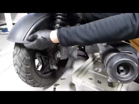 How To Remove/Replace the Rear Wheel/Tire on a Yamaha Zuma