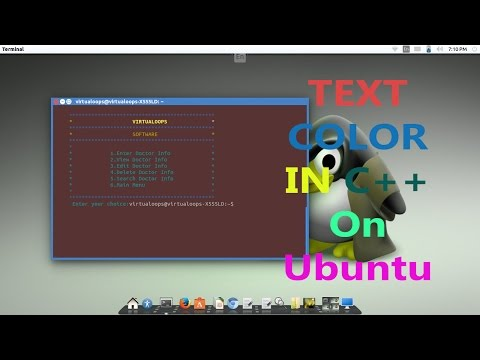Make Color Text in C++ on Ubuntu
