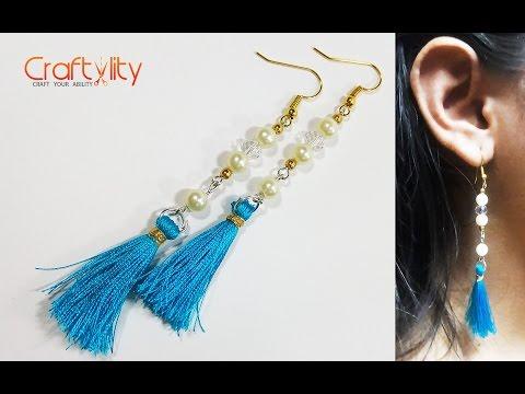 DIY Pearl Tassel Earrings Tutorial: How to Make Handmade Pearl Tassel Earrings
