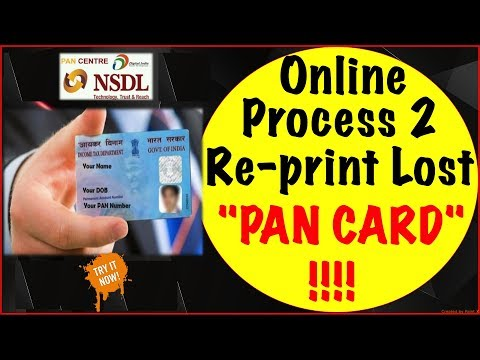 Online process to Re-print your lost or Damaged PAN Card !! (HINGLISH)