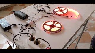 2x LED Strip mit 2 5A Trafos und Verstärker anschließen inkl. Fernbedienung