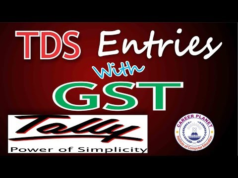 Tally ERP 9-TDS Entries with GST|Tally for GST Accounting Entries with TDS Part-16|GST Accounting