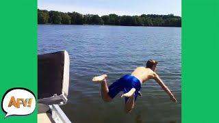 Can You Say: Boat BREAKING Belly FLOP?! 😆| Funny Fails | AFV 2020