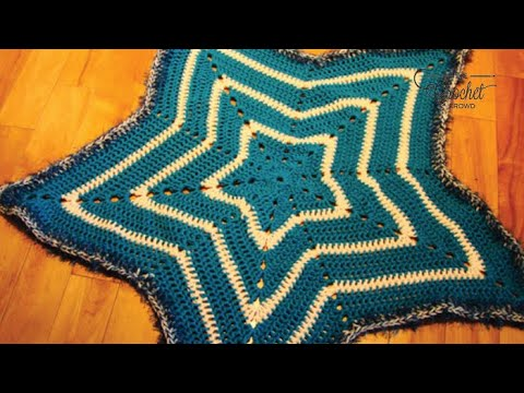 How to Crochet A Baby Blanket: Star Blanket