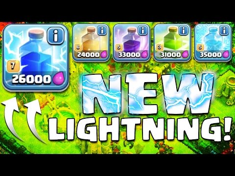 Clash of Clans | Lightning Spell LEVEL 7 Update!