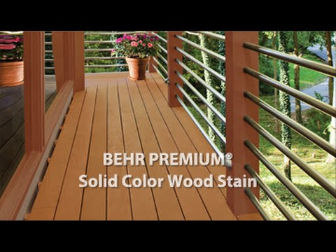 BEHR PREMIUM® Solid Color Weatherproofing All-In-One Wood Stain & Sealer