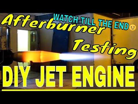 Jet engine afterburner testing Goes Wrong DIY Gas Turbine Engine HX Monster