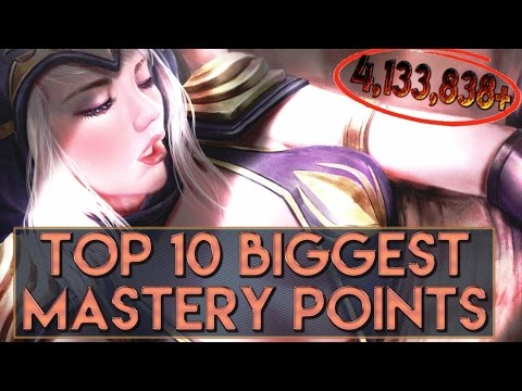 TOP 10 BIGGEST MASTERY POINTS IN LEAGUE OF LEGENDS