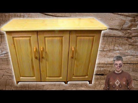 Homemade wooden 3 door cupboard