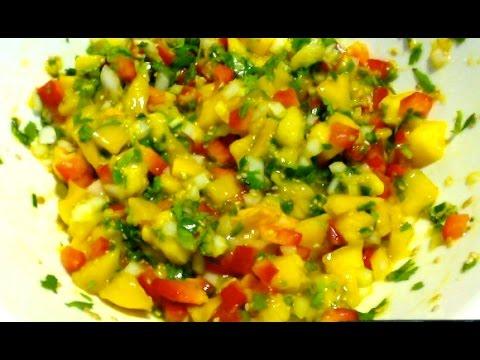 Mango salsa for tortilla chips