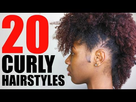 20 CURLY/ NATURAL HAIRSTYLES   SHORT/ MEDIUM HAIR