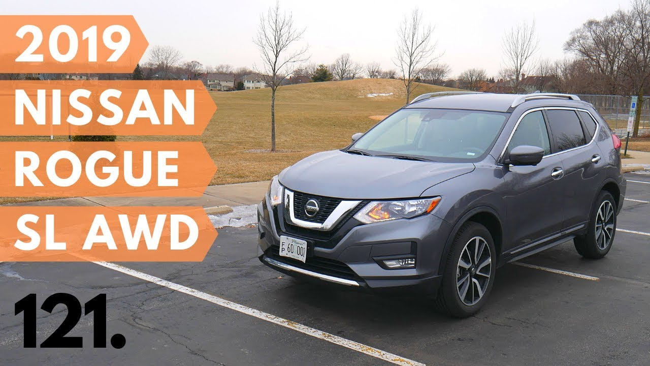 2019 Nissan Rogue SL AWD with ProPilot Assist // review and test drive // 100 rental cars