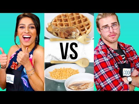 CHICKEN & WAFFLES CHALLENGE?! | COOK THAT w/ Simmi Singh & James Boyd