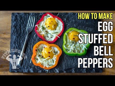 How to Make Awesome Egg-Stuffed Bell Peppers / Como Preparar Pimiento Relleno de Huevo