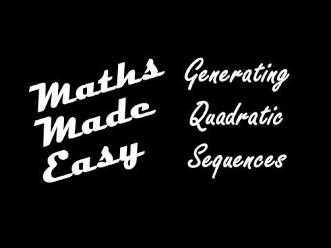 Generating Quadratic Sequences