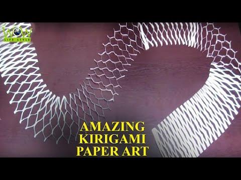 Kirigami Paper Art Tips   Simple Paper Cuting   Amazing Kirigami Paper Art   WOW Lifestyle