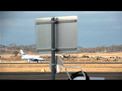 Aeropelican J32 Takeoff Cooma Airport (Snowy Mountains)
