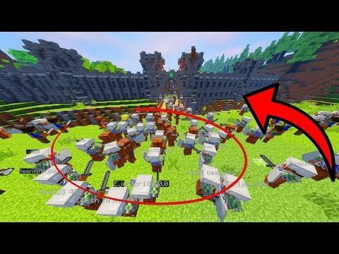 SOLDIERS ATTACK A CASTLE! (MASSIVE RAID) • Minecraft Warfare Mod • 10K Subs!