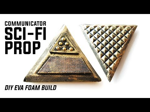 How To Make A Sci-Fi Communicator Prop: An Easy DIY EVA Foam Tutorial