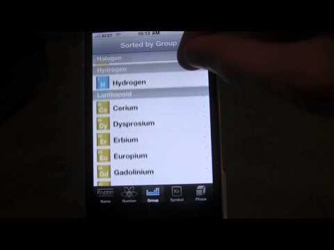 Periodic App for iPhone