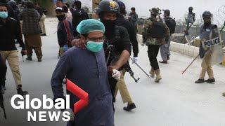 Coronavirus outbreak: Pakistan police detain dozens of doctors protesting lack of equipment
