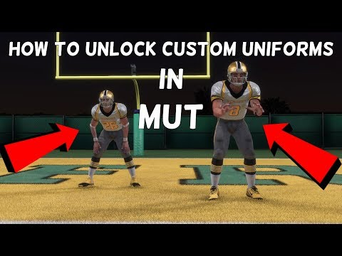 HOW TO UNLOCK CUSTOM UNIFORMS IN ULTIMATE TEAM (MADDEN 18 MUT)