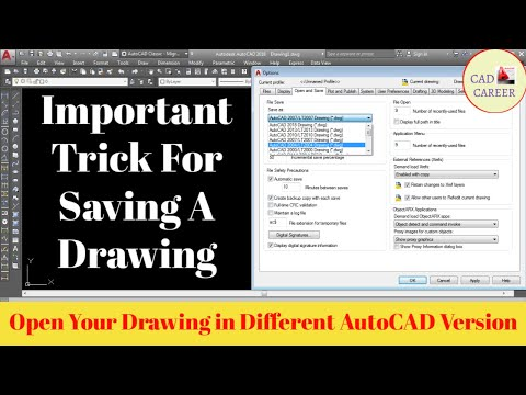 Autocad Drawing Save in Different Version || Saving Autocad File in Different Version
