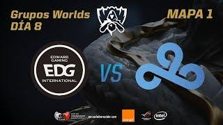 EDWARD GAMING VS CLOUD9 - GRUPOS - WORLDS 2017 - DÍA 8