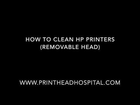How to Clean HP printers with removable print heads