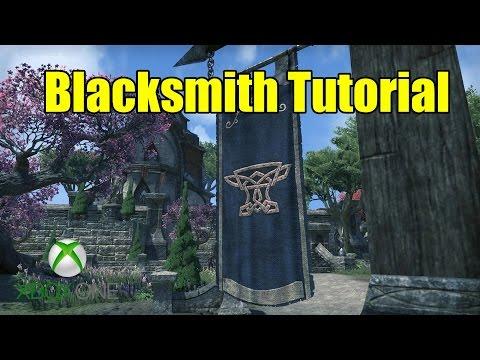 Elder Scrolls Online (ESO) Xbox One -  Blacksmith Crafting Guide Tutorial
