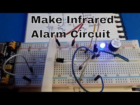 Make Infrared Alarm Circuit | IR Based Security Alarm | Infrared Security Alarm | IR Alarm