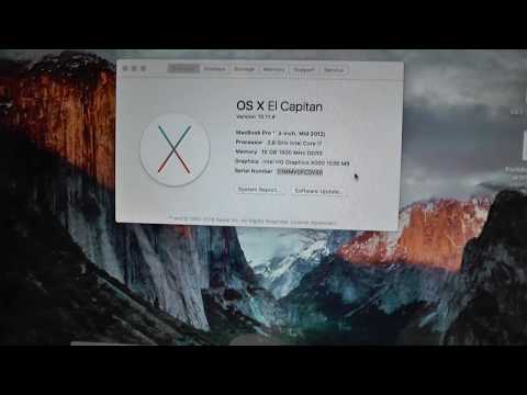 [HW: How to] Changing MacBook pro serial number