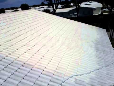 Non-Pressure Softwash Chemical Tile Roof Cleaning Boynton Beach, FL 561-781-4297