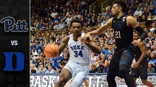 Pittsburgh vs. Duke Basketball Highlights (2017-18)