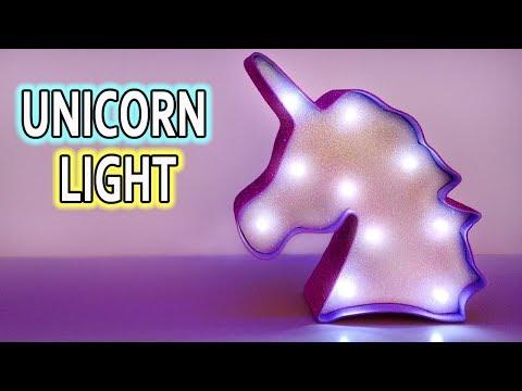 UNICORN LIGHT! DIY room decor ideas!