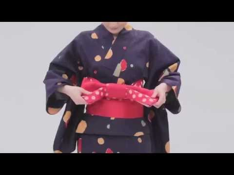 UNIQLO | Yukata: Tutorial - How to tie the obi