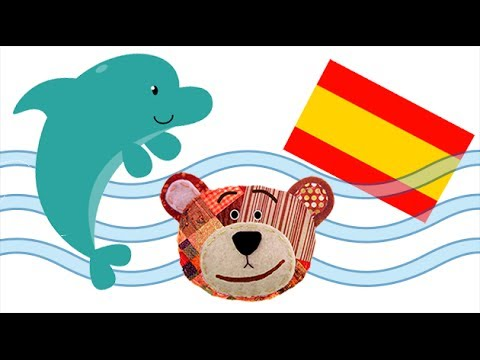 The Sea Animals for Kids in Spanish. Learn the names and Sounds