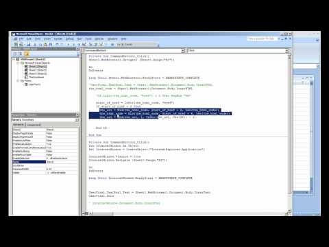 Querying Web Page Source Code and Extracting Data from a Site (Part 3 of 4)