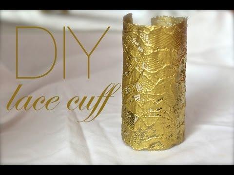 How to make a gold lace cuff! | Nik Scott