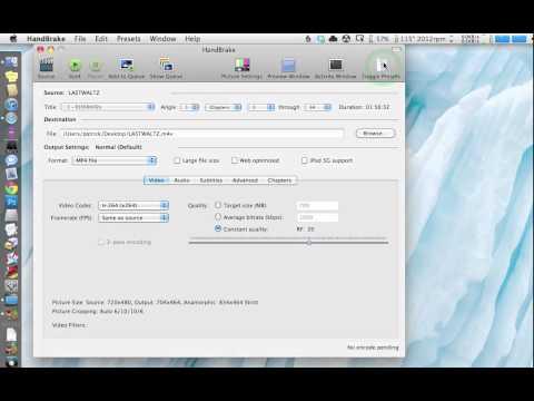 Rip DVDs to your Mac using Handbrake