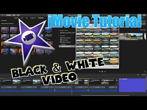 iMovie Tutorial 2016 - Black and White Video